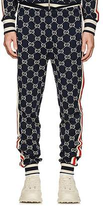 Gucci Men's GG Supreme Knit Cotton Jogger Pants - Navy