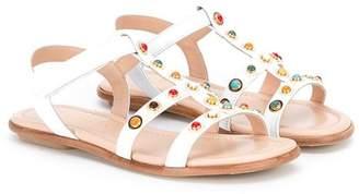 Aquazzura Mini rounded stud sandals