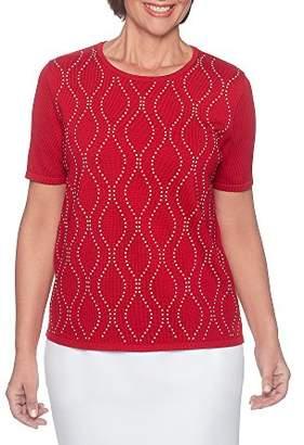 Alfred Dunner Alf Dunner Women's Petite Vertical Waves Sweater