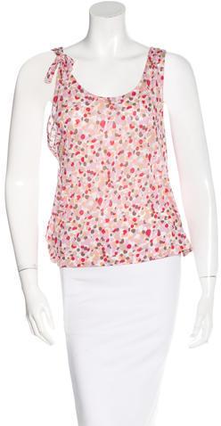 MarniMarni Printed Sleeveless Top
