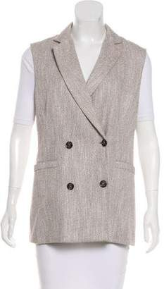 Eleventy Tweed Double-Breasted Vest