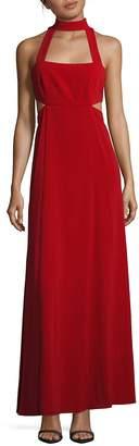 Jill Stuart Women's Mockneck Sleeveless Cutout Gown