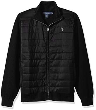 U.S. Polo Assn. Men's Quilted Nylon Full Zip Sweater