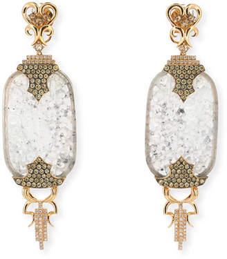 Wendy Yue 18k Chinese Etiquette Jade & Diamond Earrings