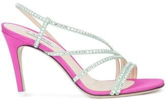 ATTICO rhinestone sandals