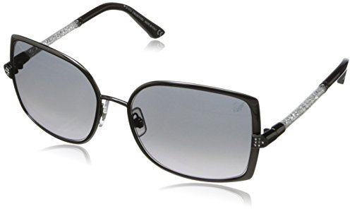 Swarovski Eyewear Women's SK0043 Oval Metal Sunglasses