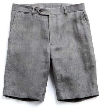 Todd Snyder Linen Short in Heather Grey