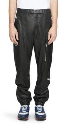 Givenchy Leather Jogger Pants