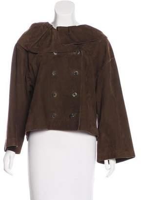 Lanvin Suede Button-Up Jacket