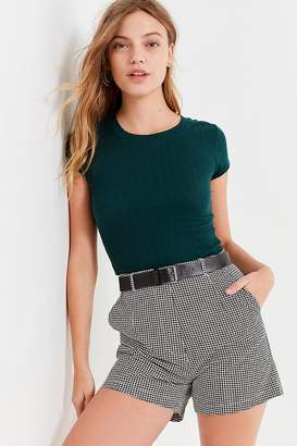 Urban Outfitters Lady High-Rise Houndstooth Short