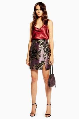 Topshop Womens Tall Jacquard Skirt