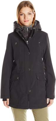 Nautica Women's Soft Shell with Quilted Bib/Hood