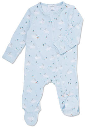 20b6dc12ad8 Angel Dear Bunnies Printed Zip-Front Footie Pajamas