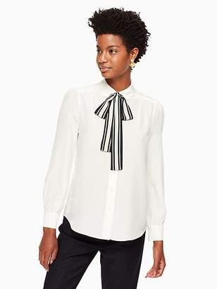 Kate Spade Stripe tie front shirt
