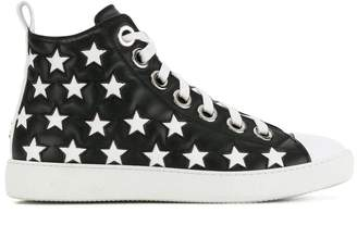 No.21 high-top star detail sneakers
