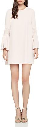 BCBGeneration Smocked-Sleeve Shift Dress $88 thestylecure.com