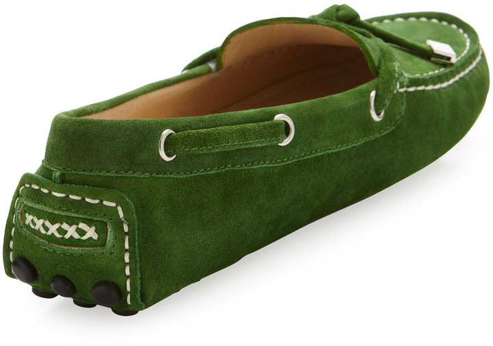 Patricia Green Stephie Suede Driver Moccasin, Green