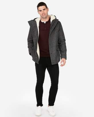 Express Textured Sherpa Water-Resistant Recycled Wool Parka