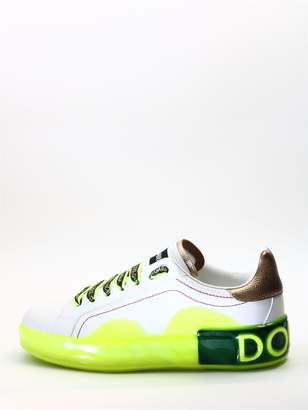 Dolce & Gabbana White Sneakers Yellow Sole