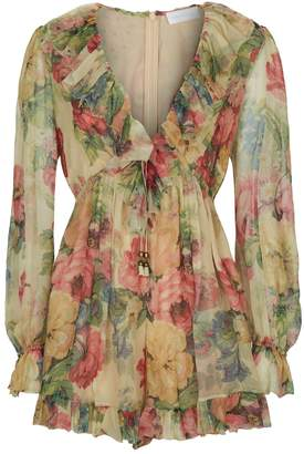 Zimmermann Melody Floral Playsuit
