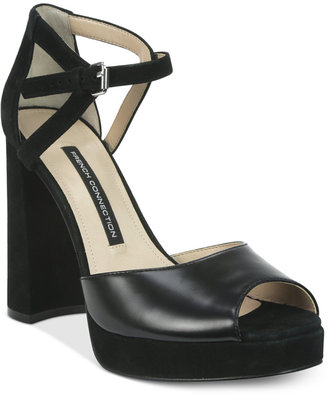 French Connection Dita Peep-Toe Platform Sandals $120 thestylecure.com