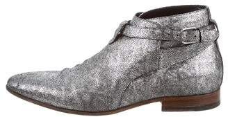 Saint Laurent Jodhpur Metallic Boots