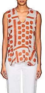 Zero Maria Cornejo Women's Yun Geometric Linen Tank - Orange
