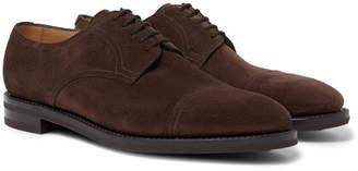 John Lobb Cap-Toe Suede Derby Shoes - Men - Dark brown