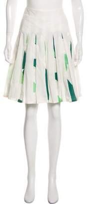 Trovata Pleated Knee-Length Skirt