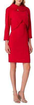 Tahari Arthur S. Levine Petite Two-Piece Tulip Jacket & Sheath Dress Set