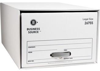 Business Source, BSN26755, Drawer Storage Boxes, 6 / Carton, White