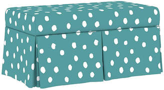 One Kings Lane Hayworth Storage Bench - Aqua Linen