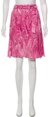 Burberry Printed Wrap Skirt