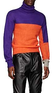 LANDLORD Men's Colorblocked Mohair-Blend Turtleneck Sweater - Purple