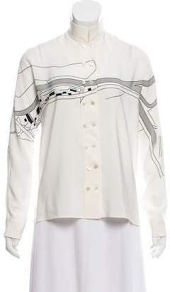 Akris Printed Silk Top