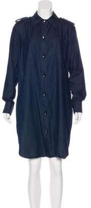 Lanvin x Acne Chambray Knee-Length Shirtdress
