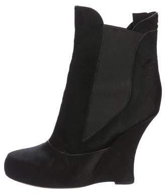 Tabitha Simmons Chiara Ponyhair Wedge Boot