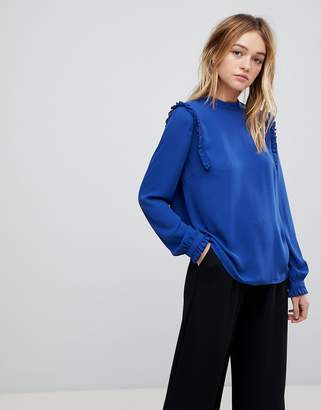 B.young Ruffle Sleeve Blouse