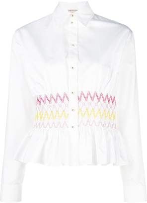 Emilio Pucci elasticated zigzag waistband blouse