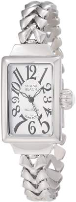 Glam Rock Women's MBD27036 Miami Beach Art Deco Dial Stainless Steel Watch