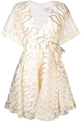 Temperley London geometric printed dress