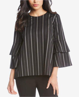 Karen Kane Striped Bell-Sleeve Top