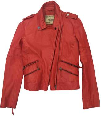 Oakwood Red Leather Leather Jacket for Women