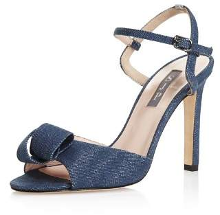 Sarah Jessica Parker Women's Ferry Denim High-Heel Ankle Strap Sandals - 100% Exclusive