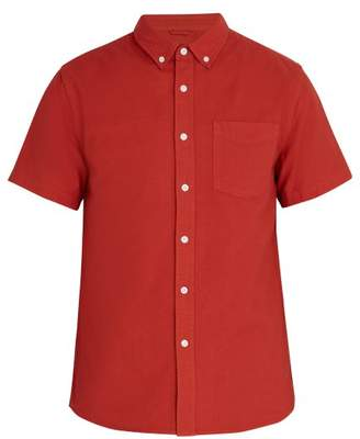 Saturdays NYC Esquina Short Sleeved Cotton Shirt - Mens - Amber