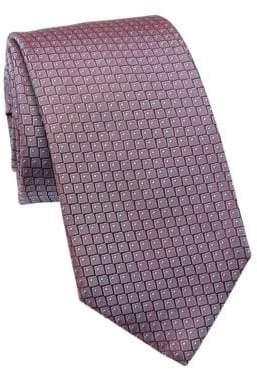 BOSS Geometric Printed Silk Tie