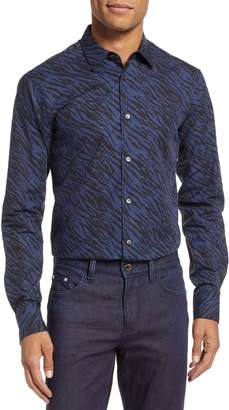 Tiger of Sweden Farrell Trim Fit Print Dress Shirt