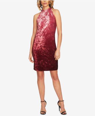 CeCe Ombre Velvet Halter Dress