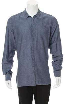 Calvin Klein Collection Long Sleeve Button-Up Shirt