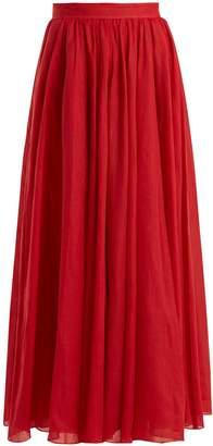 THREE GRACES LONDON Arlene panelled ramie maxi skirt